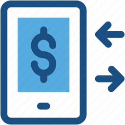finance exchange, mobile transaction, online business, online money, online transaction icon