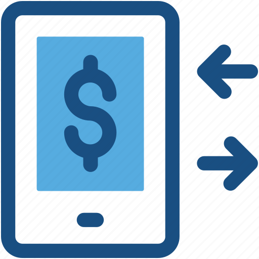 Finance Exchange Mobile Transaction Online Business Money Icon