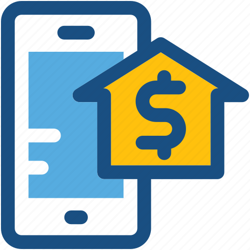 home, house, mobile device, online property, property application icon