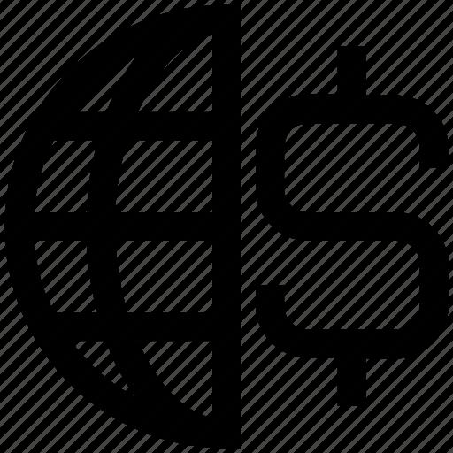 business, dollar, dollar sign, finance, global business, international business, world business icon