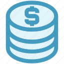 coin, coins, currency, dollar, finance, money, payment icon