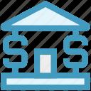 bank, banking, building, dollar, money, saving, sign