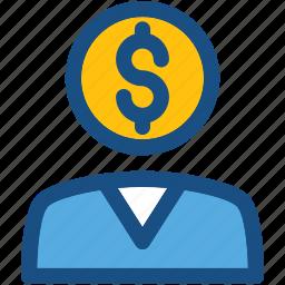 banker, businessman, businessperson, financier, investor icon