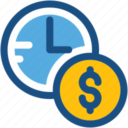 appointment, business schedule, coins, investment time, time icon