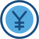 business, commerce, jpy, yen currency, yen symbol icon