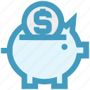 bank, box, coin, money, pig, piggy, saving icon