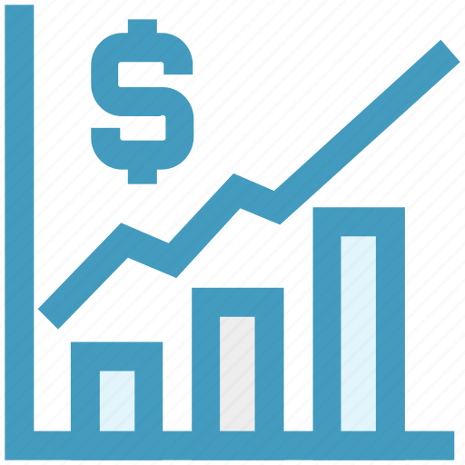 analysis, chart, currency, dollar sign, earning, finance, graph icon