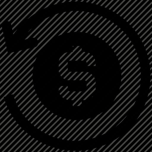 arrow, circle, dollar, dollar exchange, exchange, money, money exchange icon