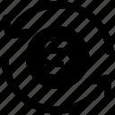 arrows, business, cash, coin, dollar sign, loading, sync