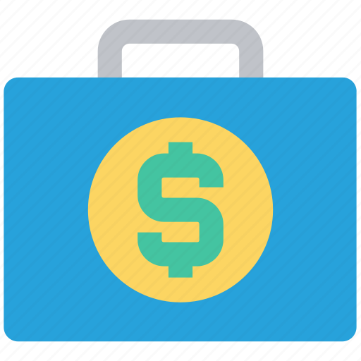 bag, briefcase, budget, business, case, dollar, money icon