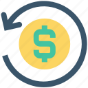 arrow, circle, dollar, dollar exchange, exchange, money, money exchange icon
