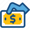 banknote, cash, cash in hand, currency, payment icon