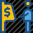 atm, atm machine, atm using, automated teller machine, cash machine icon