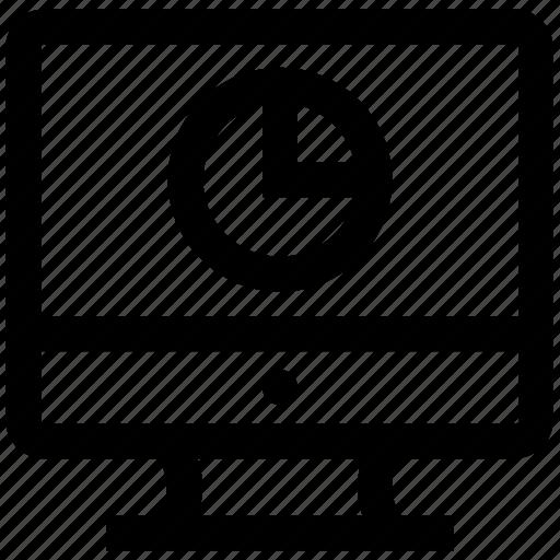 business presentation, display, lcd, pie chart, statistics icon