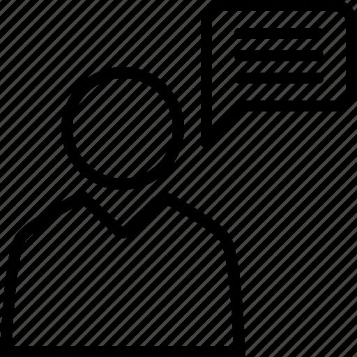 announcements, conference, opinion, press icon
