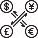 convert, currency, exchange, money icon