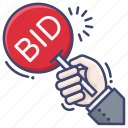 auction, bid, bidding icon