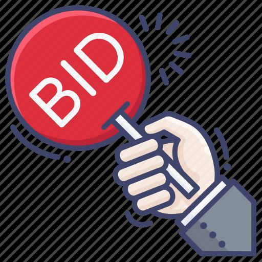 auction, bid, bidding icon