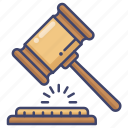 auction, judge, transaction icon