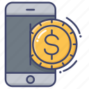 bank, mobile, payment, transfer icon