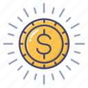 budget, coin, finance, money icon