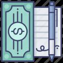 contract, debt, endorse, loan icon