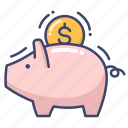 bank, finance, piggy, saving icon