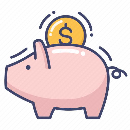 bank, finance, piggy, saving icon