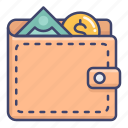 money, purchase, purse, wallet icon