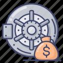 bank, deposit, safe, vault icon