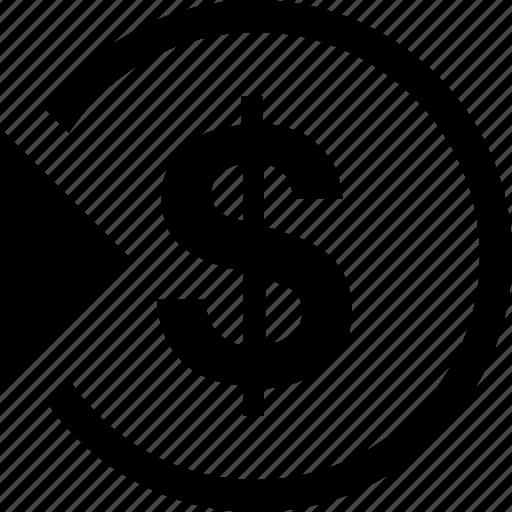 cash, check, deposit, enter, in, income, money icon