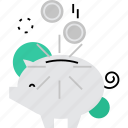 bank, guardar, keeping, money, piggy, save, saving, savings icon