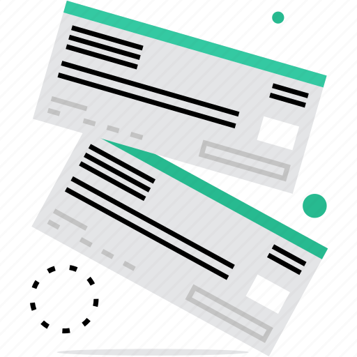 air, bank, certificate, check, coupon, document, ticket, voucher icon