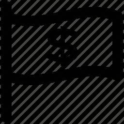 bank flag, blank, destination flag, ensign, flag, flag sign icon