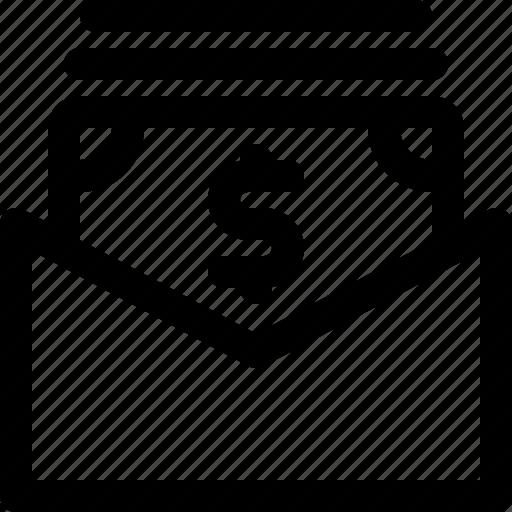 envelope, money, order, send icon