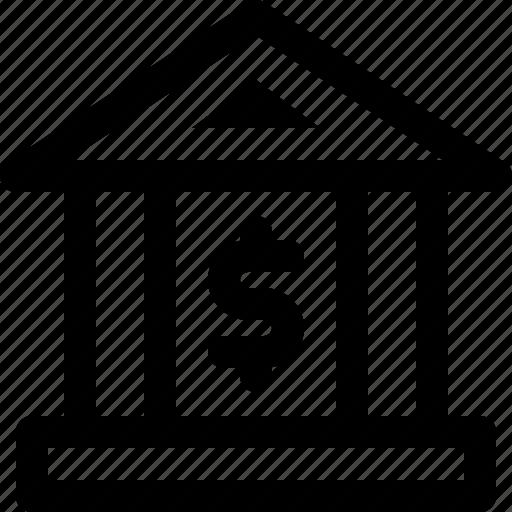 bank, building, finance, saving icon