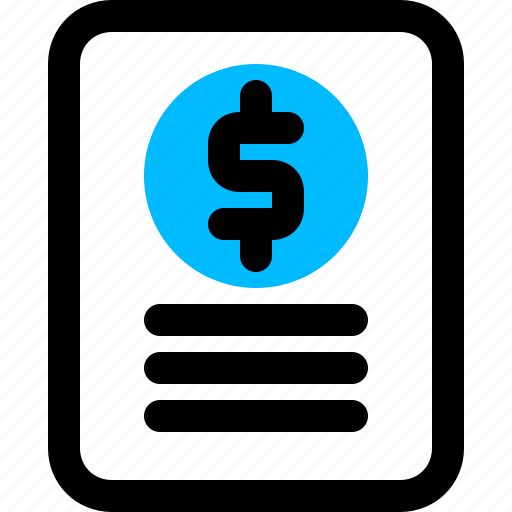 finance, report, sales icon