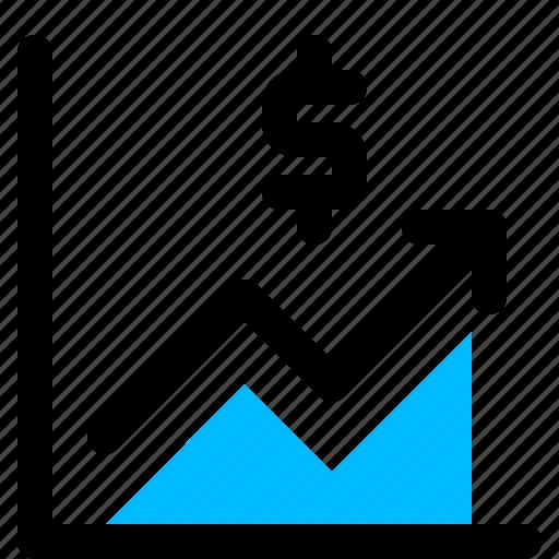 graph, growth, money icon