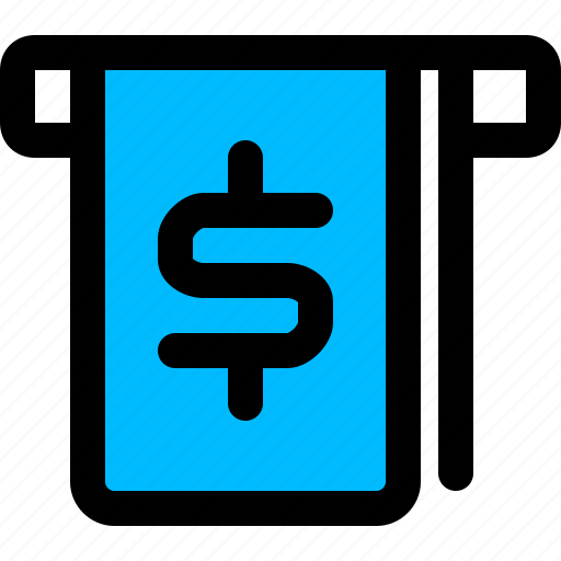 dollar, money, withdraw, withdrawal icon