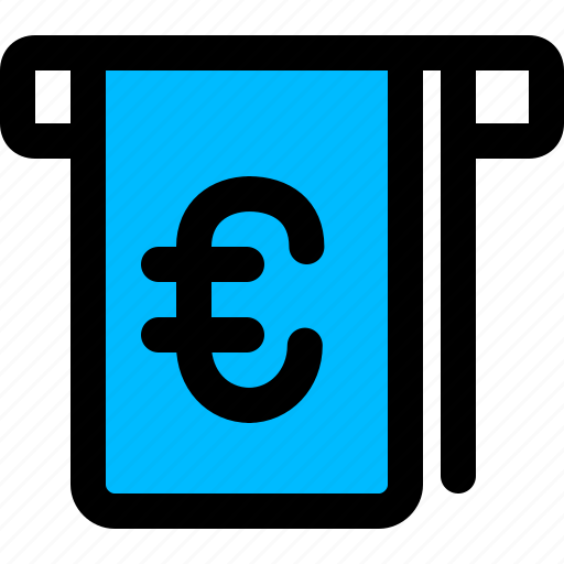 euro, money, withdraw, withdrawal icon
