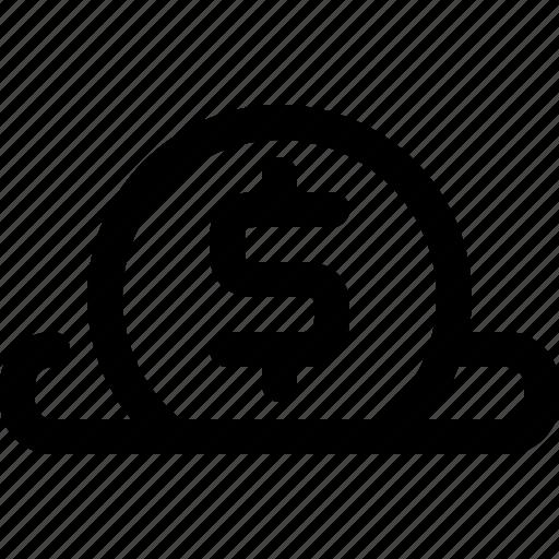 acceptor, coin, donate, saving icon