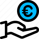 charity, donate, euro, money icon