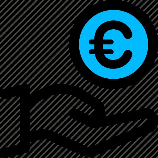 charity, donate, euro, money icon