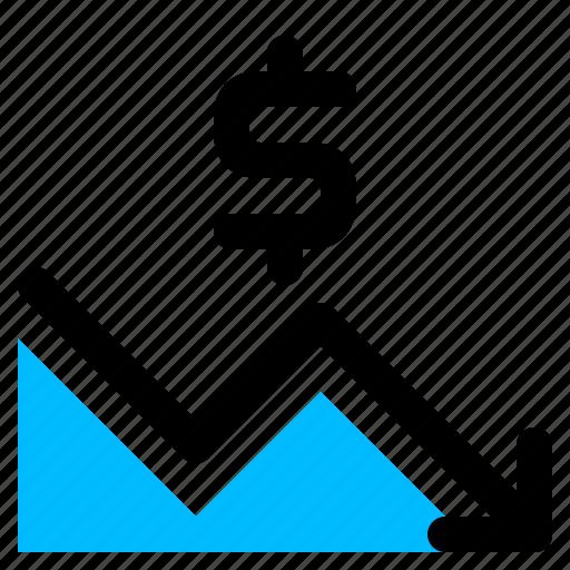 chart, finance, lose icon