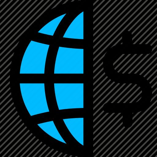 economy, finance, global icon