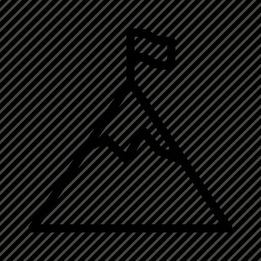 aim, flag, goal, mountain, target icon