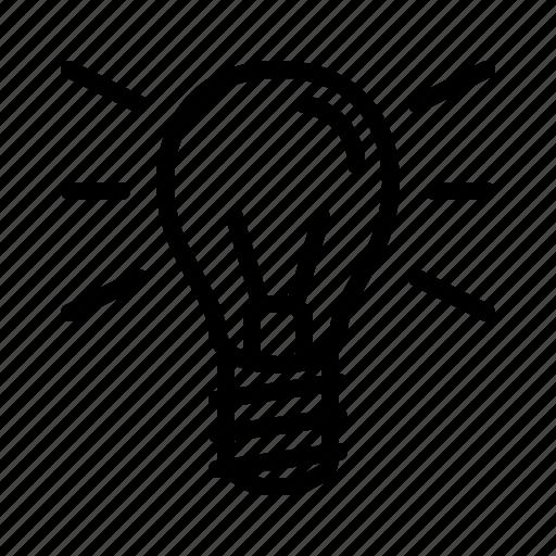 bulb, idea, inspiration, light, lightbulb icon
