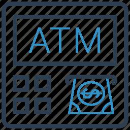 atm, cash, transaction icon