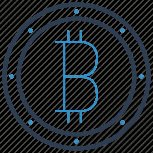 bitcoin, blockchain, cryptocurrency icon
