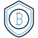 bitcoin, protection icon